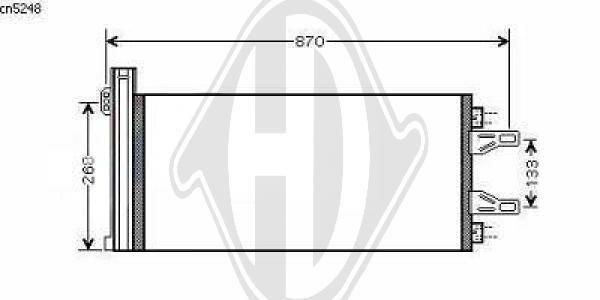 Condenseur, climatisation - Diederichs Germany - 8348401