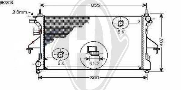 Radiateur, refroidissement du moteur - Diederichs Germany - 8348402