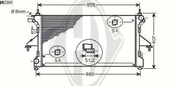 Radiateur, refroidissement du moteur - Diederichs Germany - 8348403