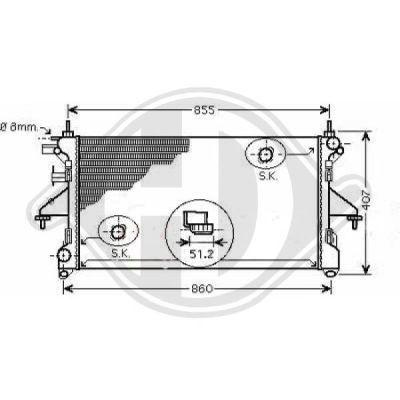 Radiateur, refroidissement du moteur - Diederichs Germany - 8348405