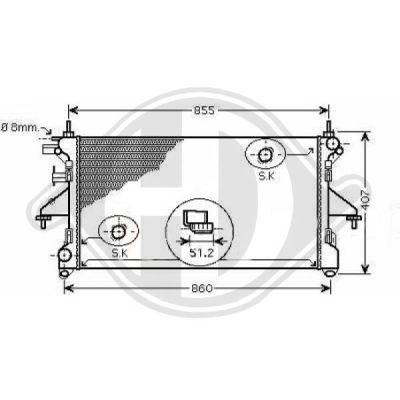 Radiateur, refroidissement du moteur - HDK-Germany - 77HDK8348406