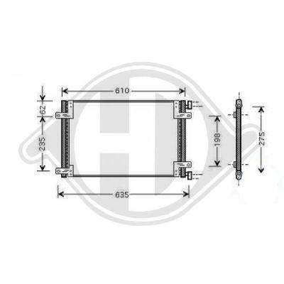 Condenseur, climatisation - Diederichs Germany - 8348500