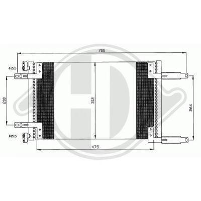 Condenseur, climatisation - Diederichs Germany - 8348501