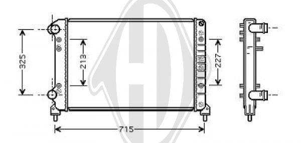 Radiateur, refroidissement du moteur - Diederichs Germany - 8348505