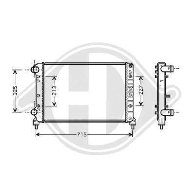 Radiateur, refroidissement du moteur - Diederichs Germany - 8348507