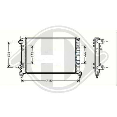 Radiateur, refroidissement du moteur - Diederichs Germany - 8348508