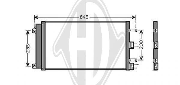 Condenseur, climatisation - Diederichs Germany - 8348510