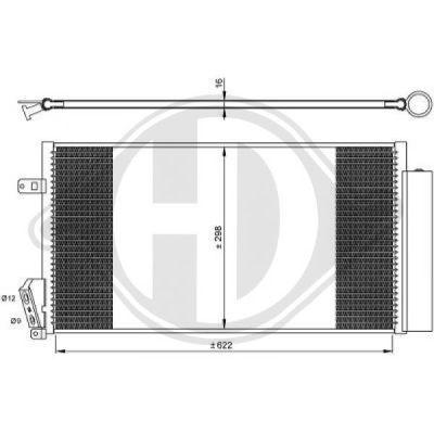 Condenseur, climatisation - Diederichs Germany - 8348600