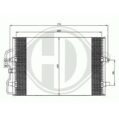 Condenseur, climatisation - Diederichs Germany - 8349100