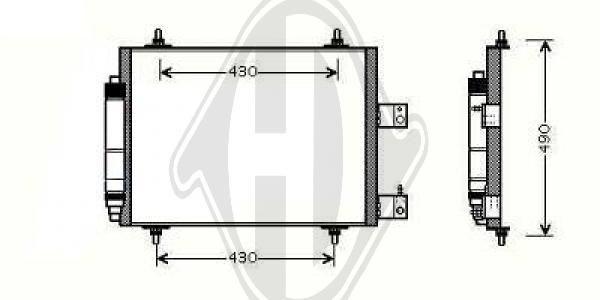 Condenseur, climatisation - Diederichs Germany - 8349103