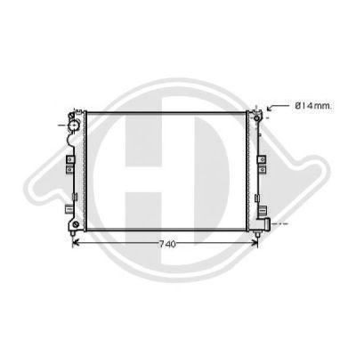 Radiateur, refroidissement du moteur - HDK-Germany - 77HDK8349105