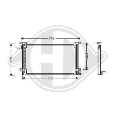 Condenseur, climatisation - Diederichs Germany - 8349200