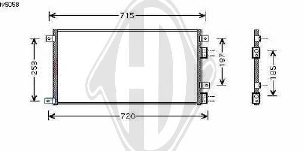 Condenseur, climatisation - HDK-Germany - 77HDK8349203