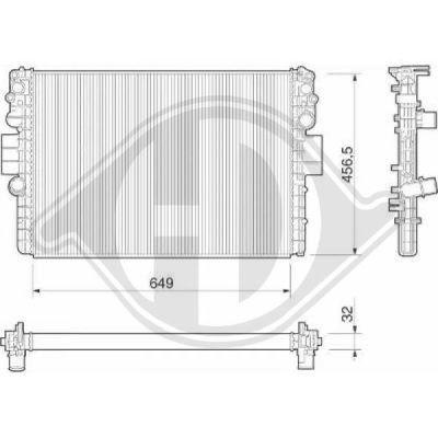 Radiateur, refroidissement du moteur - HDK-Germany - 77HDK8349204