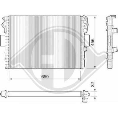 Radiateur, refroidissement du moteur - Diederichs Germany - 8349205