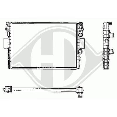 Radiateur, refroidissement du moteur - Diederichs Germany - 8349206