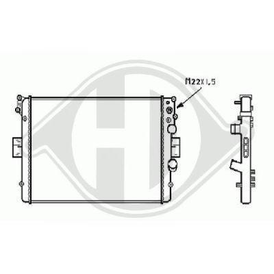 Radiateur, refroidissement du moteur - Diederichs Germany - 8349208