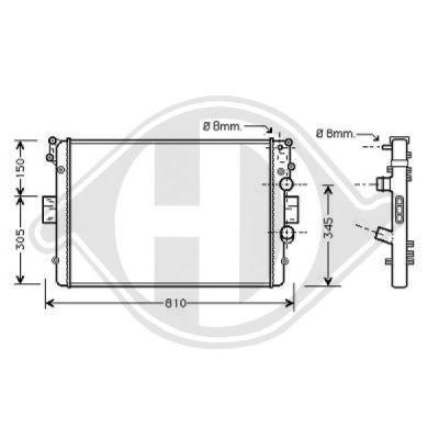 Radiateur, refroidissement du moteur - Diederichs Germany - 8349209