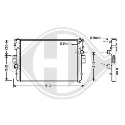 Radiateur, refroidissement du moteur - HDK-Germany - 77HDK8349301