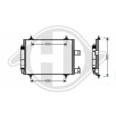 Condenseur, climatisation - Diederichs Germany - 8349380