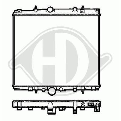 Radiateur, refroidissement du moteur - Diederichs Germany - 8349385