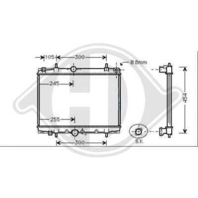Radiateur, refroidissement du moteur - HDK-Germany - 77HDK8349386