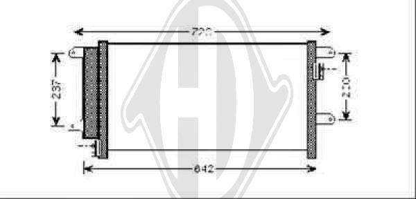 Condenseur, climatisation - Diederichs Germany - 8349400