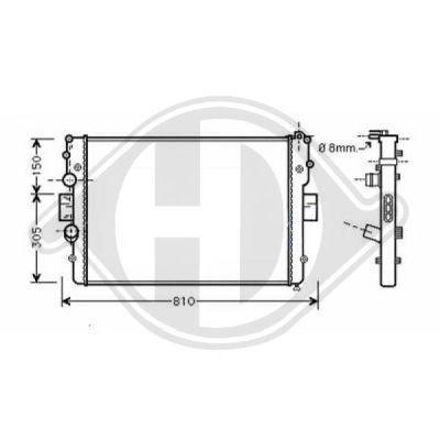 Radiateur, refroidissement du moteur - HDK-Germany - 77HDK8349405