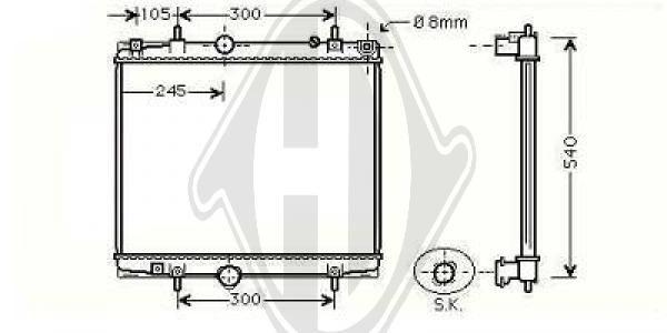 Radiateur, refroidissement du moteur - Diederichs Germany - 8349704