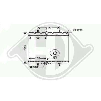 Radiateur, refroidissement du moteur - Diederichs Germany - 8349705