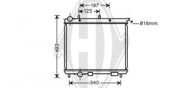 Radiateur, refroidissement du moteur - Diederichs Germany - 8400005