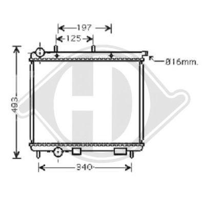 Radiateur, refroidissement du moteur - HDK-Germany - 77HDK8400502