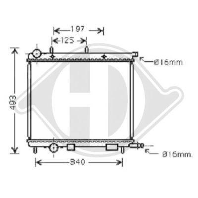 Radiateur, refroidissement du moteur - Diederichs Germany - 8400503