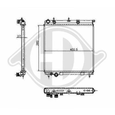 Radiateur, refroidissement du moteur - Diederichs Germany - 8400504