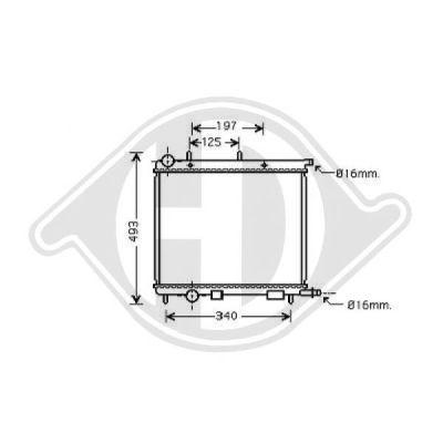 Radiateur, refroidissement du moteur - Diederichs Germany - 8400505
