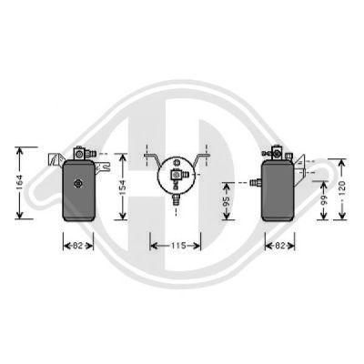Filtre déshydratant, climatisation - Diederichs Germany - 8401161