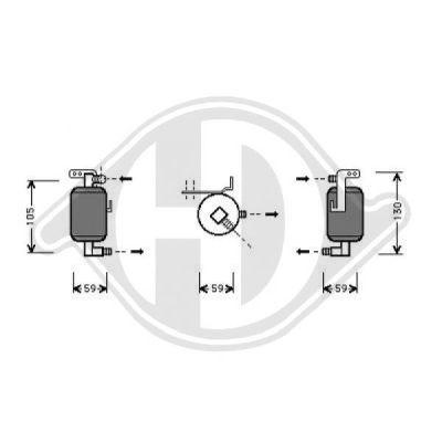 Filtre déshydratant, climatisation - Diederichs Germany - 8401162