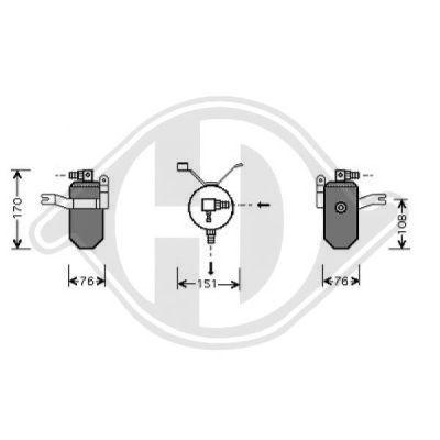 Filtre déshydratant, climatisation - HDK-Germany - 77HDK8401163