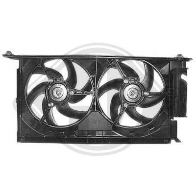 Ventilateur, refroidissement du moteur - Diederichs Germany - 8401204