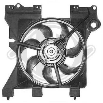 Ventilateur, refroidissement du moteur - Diederichs Germany - 8401205