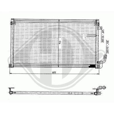 Condenseur, climatisation - Diederichs Germany - 8403503