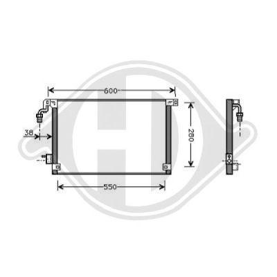 Condenseur, climatisation - Diederichs Germany - 8403504