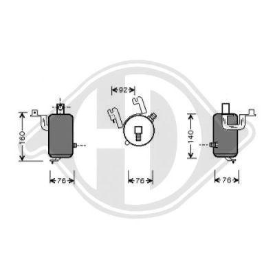 Filtre déshydratant, climatisation - Diederichs Germany - 8403505