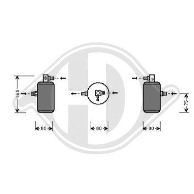 Filtre déshydratant, climatisation - Diederichs Germany - 8406001