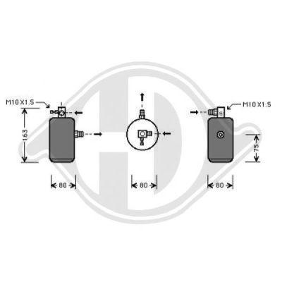 Filtre déshydratant, climatisation - HDK-Germany - 77HDK8406002