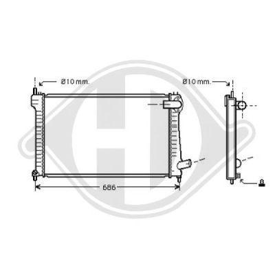 Radiateur, refroidissement du moteur - Diederichs Germany - 8406003
