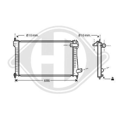 Radiateur, refroidissement du moteur - Diederichs Germany - 8406004