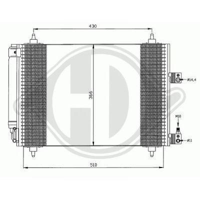 Condenseur, climatisation - Diederichs Germany - 8406101