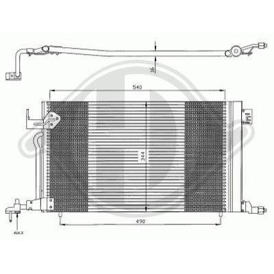 Condenseur, climatisation - Diederichs Germany - 8407000