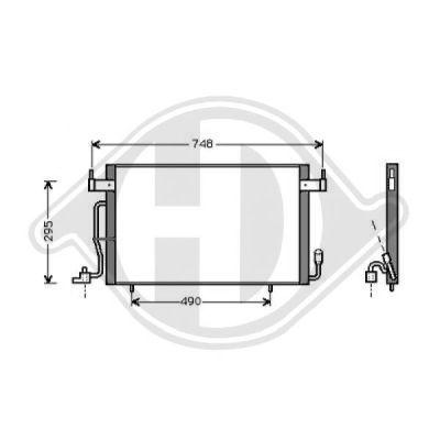 Condenseur, climatisation - Diederichs Germany - 8407001